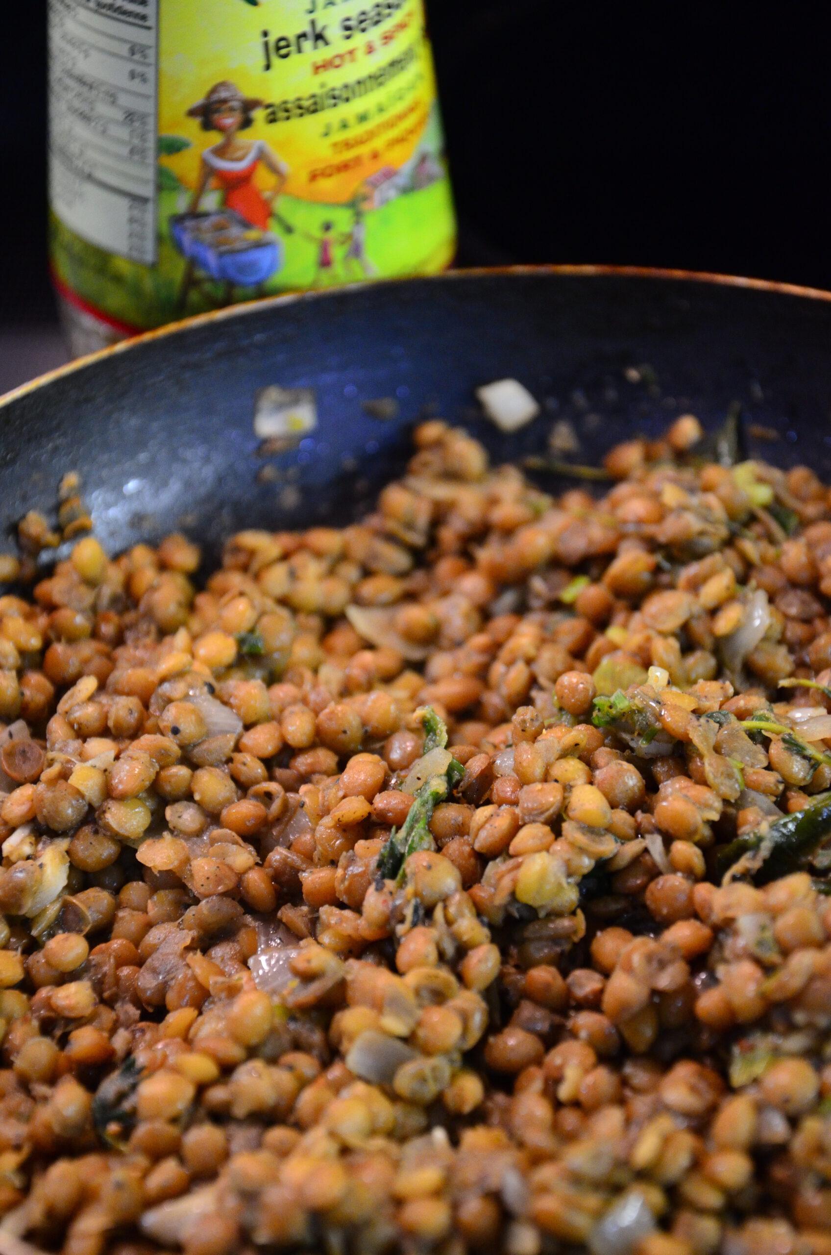 Jerk Spiced Lentils Recipe