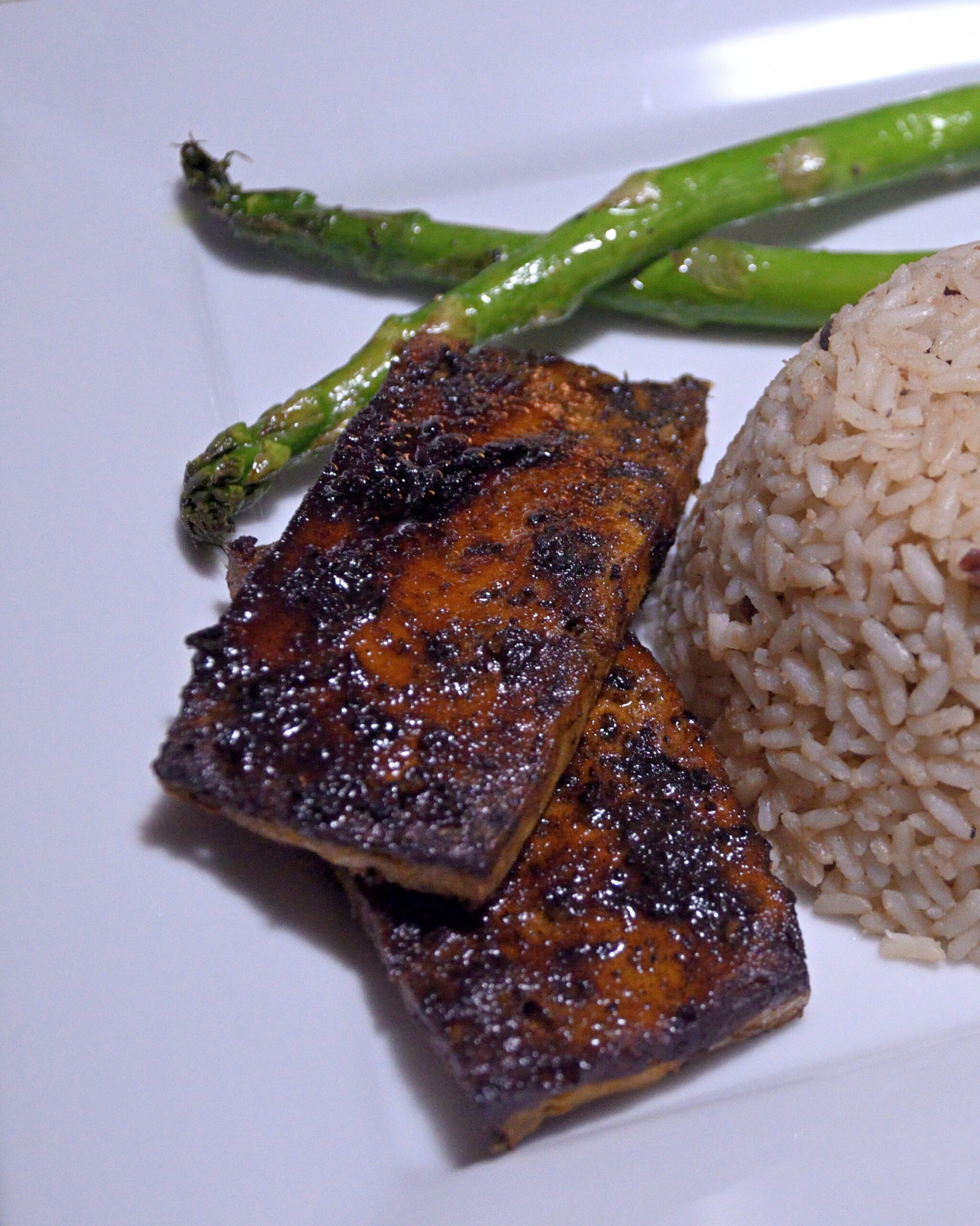 Jerk Tofu Steaks with Maple Syrup Glaze