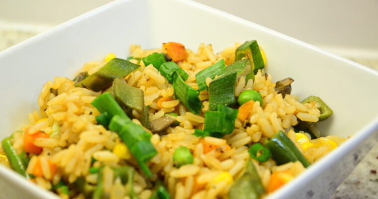 Okra Fried Rice Recipe