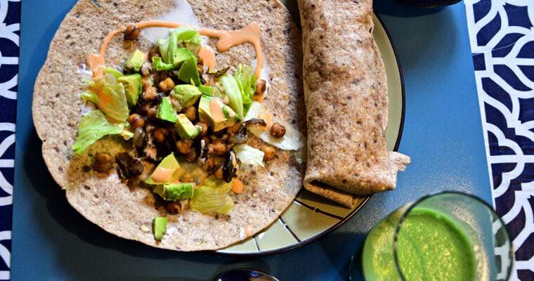 Jerk Chickpeas Wrap